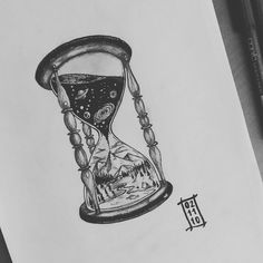 Hour glass tattoo idea, have the sand flowing in it but have a person meditate on the bottom with the sand surrounding them to represent that time is precious and can be short so make the most of it but also when it's your time to go be at piece with it and embrace it as a new life and new opportunity