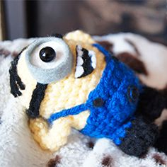 World domination is much more fun with someone equally evil plotting along with you. Make your own crochet minion with this free pattern!