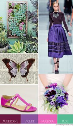 Color Palette: Aubergine, Violet, Fuchsia and Jade | Flights of Fancy