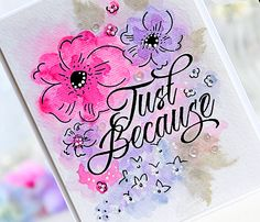 My Joyful Moments: Introducing Floral Sketches & Classic Calligraphy