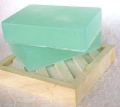 Cucumber Mint Olive Oil Soap.
