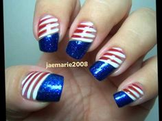 July 4 Nail Design | 4th of July Nail Designs Ideas. Hi Everyone! I hope you will have a ...