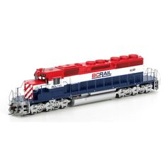 """HO RTR SD40-2 w/88"""" Nose, BCR #743 (ATH95174): Athearn Trains"""
