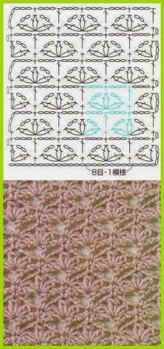 Crochet stitch Tutorial for Crochet, Knitting. Crochet Stitches Patterns, Knitting Stitches, Crochet Designs, Stitch Patterns, Knitting Patterns, Knitting Ideas, Crochet Instructions, Crochet Diagram, Crochet Chart