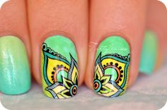 Nail art peinture de détail inspiration mandala | Tartofraises