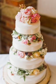 4 tier Wedding Cake | Monsoon Wedding Dress | Budget Wedding | High Rocks Kent | White Stag Wedding Photography | http://www.rockmywedding.co.uk/hannah-dan/