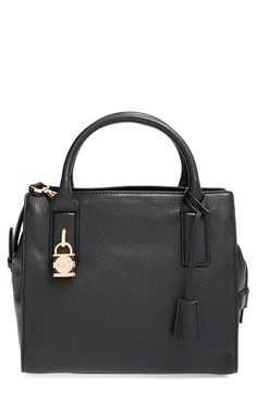 Michael Kors Mckenna Medium Satchel in Black >>> Check out the image by visiting the link.
