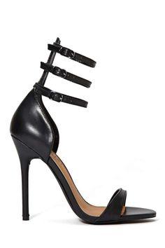83785319f863 High Heels   Picture Description Shoe Cult Collection Privilege Leather  Heel – Black -  Heels