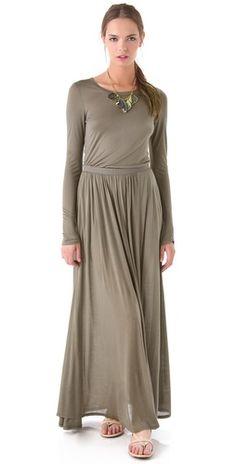 Heather Long Sleeve Maxi Tee Dress | SHOPBOP $150