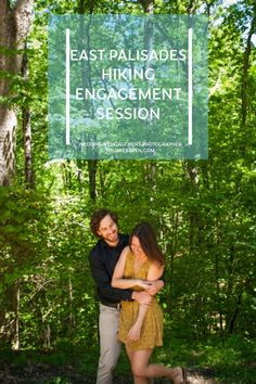 Outdoor hiking engagement session on the East Palisades Trail with Atlanta GA and destination wedding photographer You Are Raven.