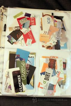 How to organize magazine clippings: words  #t2hmkr