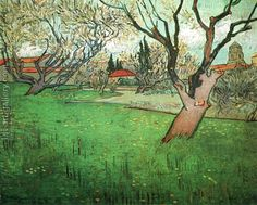 View Of Arles With Trees In Blossom Vincent Van Gogh Reproduction | 1st Art Gallery