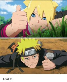 Boruto is like a kage bunshin of Naruto.. #Boruto and Naruto