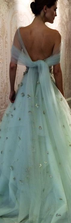 breathtaking aqua gown