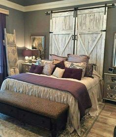 Barn doors as a headboard! LUV