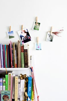 clothes pins directly on the wall craft-rooms-and-desks Instax Wall, Picture Holders, Photo Holders, Interior Inspiration, Inspiration Boards, Bedroom Inspiration, Design Inspiration, Space Photos, Hanging Photos