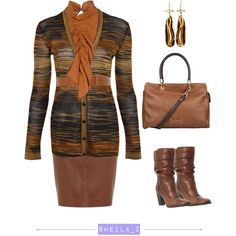 """tan look"" by smilenka on Polyvore"