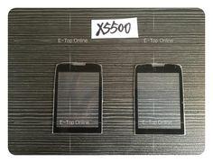 Black glass màn hình cho philips xenium x5500 glass lens không digitizer màn hình cảm ứng + 3 m sticker + theo dõi miễn phí