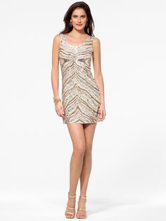 Zebra sequin tank dress     #Dress, #Sequin, #Tank, #Zebra