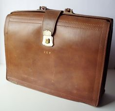 Vintage Wear Best Lawyer's Leather Briefcase by PoorLittleRobin, $26.00