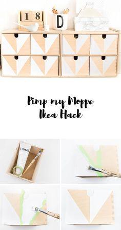 Ikea Hack - Moppe ganz einfach mit geometrischem Muster gestalten - so machst du dein eigenes Designerstück