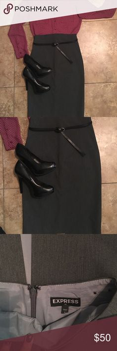 Gray Pencil Skirt❤️ Dark Gray Pencil Skirt. Worn only once. Very professional look. Any offers are welcome!!‼️ Express Skirts Pencil