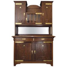 A Fine Secessionist Cabinet Attributed to Moser Koloman Moser Offered by Frederick P Victoria and Son, Inc.