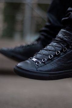 Balenciaga.  I should really start wearing my black leather high top cons more often. So many shoes, i keep forgetting what i own