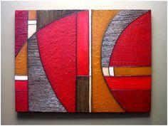 Pintura abstracta moderna texturas arte pared por 360ArtStudio