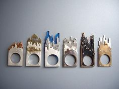 Cityscape rings by Alexandra Bletsas - inventive jewellery design inspired by buildings