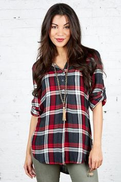 You can never have enough red, white and blue flannel, right? Just another reason to check out the Delancey Plaid Tunic by Cloth & Stone.