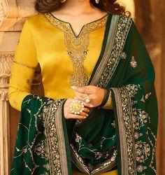 Latest Punjabi Suits Design, Latest Suit Design, Dress Indian Style, Indian Dresses, Indian Outfits, Indian Wear Rajasthani Dress, Rajputi Dress, Jaipur, Color Combinations, Sari, Suits, Model, Dress Ideas, Dresses #suitdesign #colourcombination #punjabisuits #punjabisuit #contrastcolour #colorcombination Colours Combination Ideas Suits Kurti Dress New Colour Combination For Punjabi Suits Fashion Trends contrast colour combination for lehenga,peach colour combination dresses Indian Designer Suits, Latest Punjabi Suits Design, Churidar, Salwar Kameez, Sharara Suit, Anarkali Suits, Latest Party Wear Gown, Kurta Patterns, Kurta Designs Women