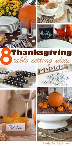 8+ Easy and Affordable - Thanksgiving Table Setting Ideas