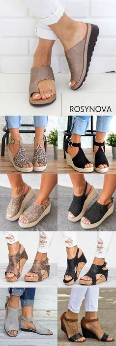 SHOP OFF Hot Selling Wedge Sandals Shoes Fashion Sandals Slippers Must Have It! is part of fashion - fashion Wedge Sandals, Wedge Shoes, Shoes Sandals, Cute Shoes, Me Too Shoes, Women's Espadrilles, Trendy Fashion, Womens Fashion, Fashion Fashion