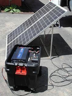 Komplette 220v Solaranlage TÜv 2x 100ah Akkus 200w Solarmodul 1000w Steckdose Spare No Cost At Any Cost Heimwerker