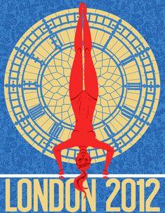 Olympics  Image of London 2012 Olympics Poster: Gymnastics