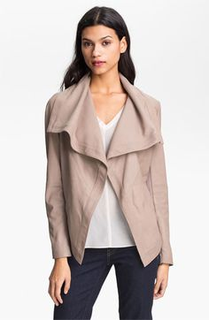 Elie Tahari 'Paige' Leather Jacket available at Nordstrom