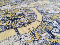 Рисованная карта Лондона