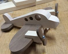Handcrafted wood toys by KKRVenturesLLC Woodworking Toys, Woodworking Projects, Airplane Toys, Wooden Airplane, Bois Diy, Small Wood Projects, Wooden Car, Unique Toys, Diy Holz