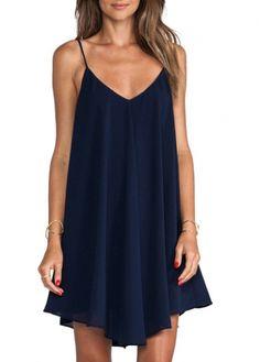 Enchanting Strap Design V Neck Woman Backless Dress