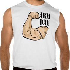 Bodybuilding Arm Day Athlete Sport Sleeveless Tee Tank Tops