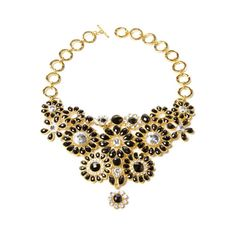 Amrita Singh Crystal Cocoa Bib Necklace (395 RON) ❤ liked on Polyvore featuring jewelry, necklaces, accessories, crystal jewelry, toggle necklace, amrita singh necklace, amrita singh jewellery and adjustable necklace