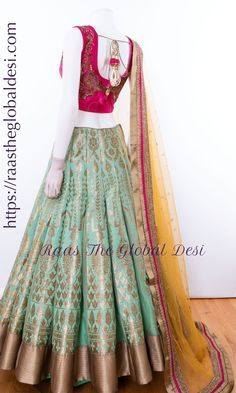 Half Saree Lehenga, Lehenga Gown, Party Wear Lehenga, Lehenga Choli Online, Brocade Lehenga, Lengha Choli, Indian Gowns Dresses, Indian Fashion Dresses, Indian Designer Outfits