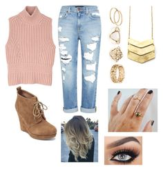 """""""Untitled #219"""" by dreamgurl-846 on Polyvore featuring Genetic Denim, Jessica Simpson and Diesel Black Gold"""