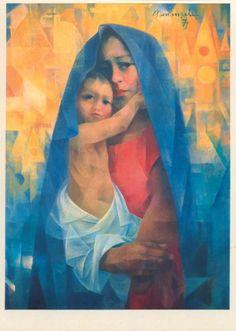By Filipino painter, Manansala