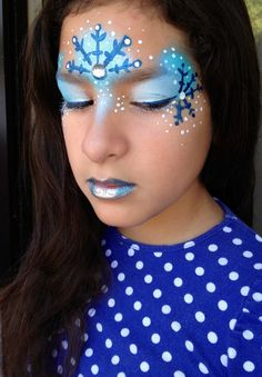 Snow flake face paint