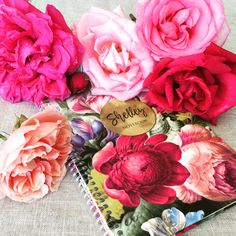 In Bloom - Personalised Journals  Available online at www.macaroon.co.za Kids Labels, Personalized Stationery, Macaroons, Teacher Gifts, Party Invitations, Gift Tags, Holiday Cards, Journals, Bloom