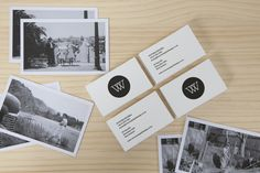 Victoria Wigzell Design Branding. Letterpress Business Cards and Thank You Cards Featuring Old Family Photos. victoriawigzelldesign.co.nz