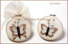 Μπομπονιέρες βάπτισης πεταλούδα Place Cards, Place Card Holders, Butterfly, Bow Ties, Butterflies