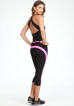 Belted Colorblock Jumpsuit